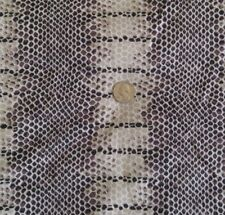 """Loomskill Synthetic Knit Fabric SNAKESKIN Brown Black Tan White 45""""Wide x 4 Yds"""