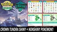 The Crown Tundra DLC Pokemon Pack All Pokemon Shiny & NonShiny Bundle