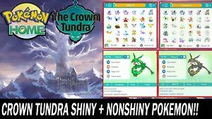 The Crown Tundra DLC Pokemon Pack All Pokemon Shiny & NonShiny Bundle