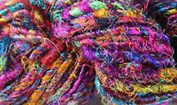 Recycled Sari Silk Yarn - Multicolor