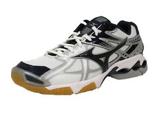 Mizuno Women's Wave Bolt 4 WH-NY Volleyball Shoe, White/Navy, 9.5 D US