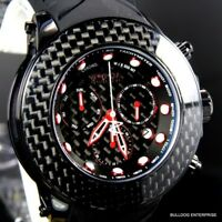 Invicta Reserve Carbon Fiber Collection Black Chrono 52mm Swiss Movt Watch New