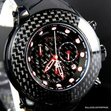 Invicta Reserve Carbon Fiber Collection Black Chrono 52mm Swiss Made Watch New