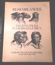Resemblances~Amazing Faces By Charles Le Brun~ First Edition~Drawing Art Book