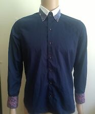 Men's Tarocash Pale Blue Check Shirt Size M Rrp$89.95 Men's Clothing