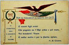 Cartolina Formato Piccolo - Palermo - 1917 Le Studentesse Della Regia Università