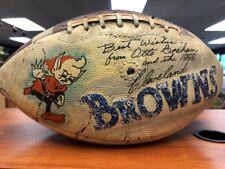 Autographed Football Signed by Otto Graham and the 1955 Browns Team