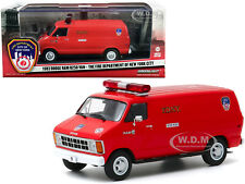 1983 Dodge Ram B250 Van Red Fdny New York 1/43 Diecast Model By Greenlight 86578