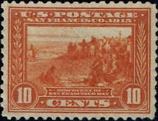 #400A 1913 ORANGE 10c PAN-PACIFIC ISSUE MINT-OG/NH---VF/XF