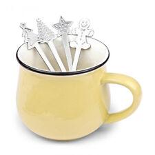 4pcs Christmas Stainless Steel Coffee Spoons Teaspoon Dessert Cream Scoop Small