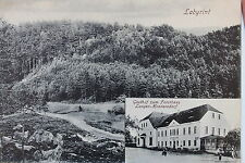 24721 AK Gasthaus zum Forsthaus Langen-Hennersdorf und Labyrint 1916
