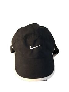 Nike Boys Winter Cap with Ear Flaps and Adjustable Back- Black