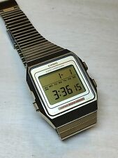 rare vintage casio WS-75G Gold Digital watch Made In Japan HTF USED