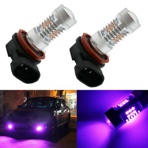 2pcs Pink Purple H11/H8 LED Fog Driving Light DRL Bulbs For Car Auto Accessories