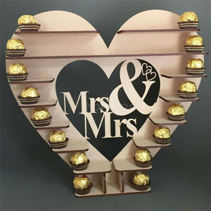 Wedding Engagement Mr & Mrs Heart Tree Chocolate Dessert Display Stand 40X43cm