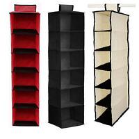 6 Shelves Wardrobe Shelf Hanging Storage Pocket Shelf Rack Closet Organiser Shoe