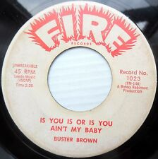 BUSTER BROWN r&b 45 DON'T DOG YOUR WOMAN / IS YOU OR IS YOU AIN'T MY BABY DM527