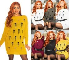 Koucla Long Jumper Knitted Pullover Knitted Mini Dress Used Look