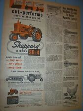 VINTAGE SHEPPARD DIESELS  ADVERTISING PAGE- SHEPPARD SD 4  TRACTOR -1955