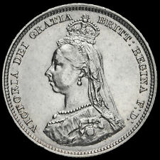 More details for 1887 queen victoria jubilee head silver shilling, near ef