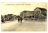CPA 34 Herault Palavas-les-Flots Avenue de la Gare Grand Hôtel animé