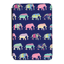 Patchwork Elefantes Animal Kindle Paperwhite Touch Cuero Pu Flip Funda Protectora