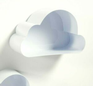 4x new white Spacielle cloud shaped wall shelf floating shelves