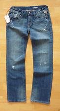 Distressed L32 Damen-Jeans mit geradem Bein