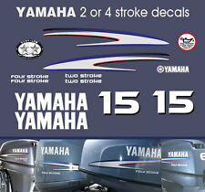 15hp 2 stroke and 4 stroke Yamaha Outboard Decals