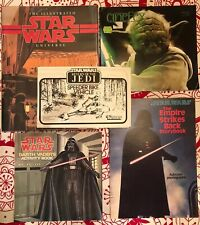 Lot of 5 Star Wars Books & Instruction Manuals / Used / Varying Condition