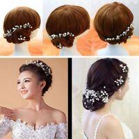 5Pcs Hair Pins Clips Wedding Bridal Pearl Flower Fashion Crystal Bridesmaid