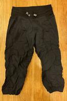 Ivivva by Lululemon Dance Studio Pant Capri Black Girls Size 10