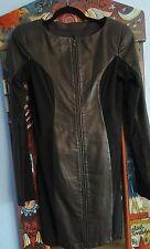 SKINGRAFT Black Leather Long Sleeve LBD sz.XL
