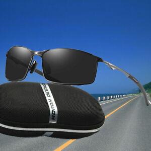 Aluminium HD Herren Sonnenbrille Polarisiert UV 400 Schutz Fahren Pilotenbrille