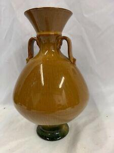 Linthorpe Pottery Brown Twin Handled Vase Impressed 080