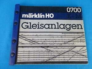 Marklin 0700 K- M- Gleisanlagen Layouts plan book D. German