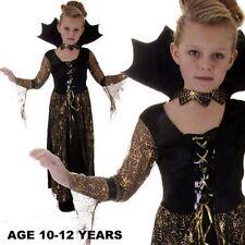 ragazze Spiderella Vampira Costume Halloween fits10-12 ANNI V00 159