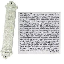 Mezuzah Case With Kosher Scroll Mezuzot Mezuza Hebrew Jewish Gift White Judaica