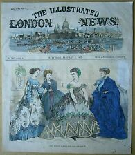 ILN illustration: Paris fashions for the New Year; Jan 5, 1867