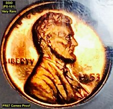 1953 LINCOLN CENT - DDO (FS-101) PF67RD CAMEO PROOF **VERY RARE**