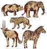 WALLIES JUNGLE/SAFARI ANIMALS batik wall sticker 25 decals Africa decor elephant