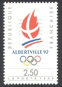 France 1990 Winter Olympics/Sports/Albertville Games Emblem 1v (n40691)