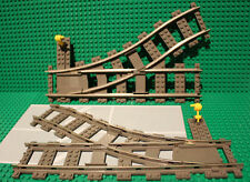 LEGO Train Track 9V Switch Points Pair L&R 4531 4512 Cargo Train City Vintage