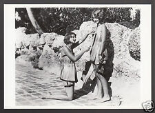 RUTH & RUBY NOLAN Twins in Wooden Bathing Suits 1941 Miami Photo MODERN POSTCARD