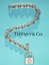 Tiffany & Co Argento Sterling Charm Lucchetto 1837 7 Pollici Braccialetto