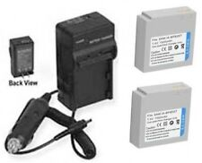 2 Batteries + Charger for Samsung SC-HMX10P SC-HMX20 SC-HMX20C SMX-F30 SMX-F30BN