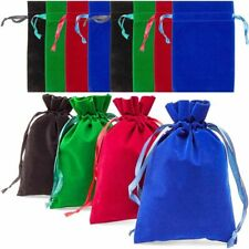 12x Drawstring Velvet Tarot Bag Jewelry Party Gift Pouch Black Red Green Blue 9""