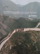 9/2004 PUB PRATT & WHITNEY MURAILLE DE CHINE CHINA ETOPS ENGINE ORIGINAL AD