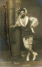LEON DAVID opera tenor signed photo as the Duke of Mantua, great records!