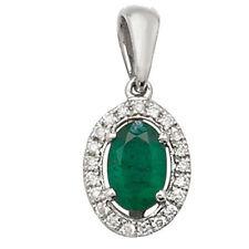 Collane e pendagli di lusso con gemme smeraldo in oro bianco